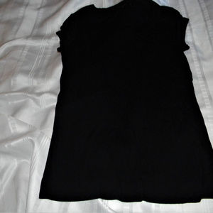 Cap Sleeve Black T Shirt from Limited